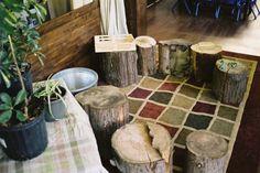 Logs indoors
