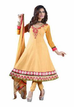 Stylish Indian Designer Wear Cream Embroidery Salwar by Fabdeal, http://www.amazon.ca/dp/B00H9D7TKA/ref=cm_sw_r_pi_dp_LrPptb1WCBWE9
