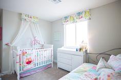 Sweet nursery decor in this model home at North Peak. Las Vegas, Nevada.