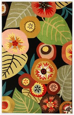 Rugs USA Luxury Moderno Green House Multi Rug. Designed by Brie Harrison http://www.briedee.com