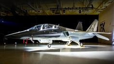 Boeing and partner Saab unveiled a twin-tailed, single-engine jet that looks like a hybrid of an F/A-18 Super Hornet and a Gripen, bringing to a close months of speculation about the team's mysterious clean-sheet design. The Air Force's planned 350-aircraft T-X program aims to replace the 55-year-old Northrop Grumman T-38 Talon with a modern jet for training the next generation of fighter pilots. Boeing-Saab design powered by a single General Electric F404.