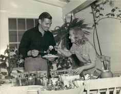 Clark Gable and Carole Lombard at home, 1940.