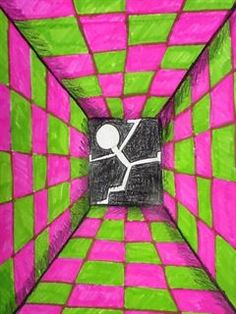 Check out student artwork posted to Artsonia from the grade Surreal Rooms project gallery at Scammon Elementary School. Illusion Kunst, Illusion Art, Classe D'art, Pop Art, 7th Grade Art, Perspective Art, School Art Projects, Elements Of Art, Art Lesson Plans