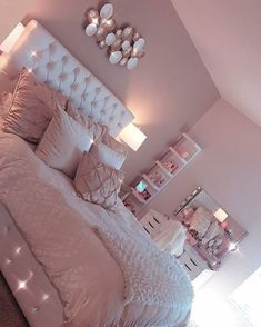 35 Best DIY Pink Living Room Decor Ideas For Teenage Girls - Page 13 - Chi ., 35 Best DIY Pink Living Room Decor Ideas For Teenage Girls - Page 13 - Chic Cu . room When it reaches to bedroom decor thoughts, a few things bring facility stage. Bedroom Decor, Pink Bedroom Design, Pink Living Room Decor, Pink Living Room, Pink Room Decor, Girl Room, Room Decor, Cute Bedroom Ideas, Pink Bedrooms