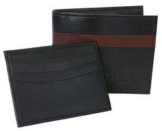 The Vegan Collection Men's Garnett Bi-Fold Wallet (black)