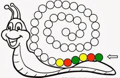 Sigue la serie de este caracol con gomets