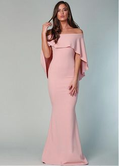 Magbridal Alluring Acetate Satin Off-the-shoulder Neckline Floor-length Mermaid Mother Of The Bride Dresses Mob Dresses, Trendy Dresses, Homecoming Dresses, Nice Dresses, Fashion Dresses, Formal Dresses, Dresses Online, The Dress, Pink Dress