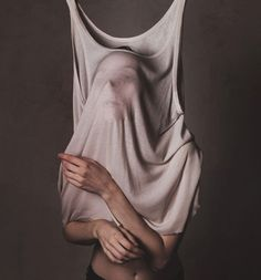 Bizarre Faceless Shirt Photography - The Flora Borsi 'lookbook' Reveals an Odd Fight with a Shirt (GALLERY)