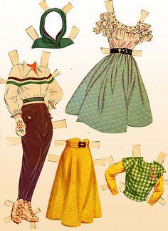 1950 June Allyson paper doll clothes #10 / eBay