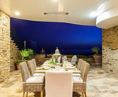 Al fresco dining style Patio | Cape Cod oceanfront beach house located on the white sands of Strands Beach | Dana Point, CA