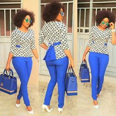 Ladies Ankara Tops For Jeans, ankara top styles with Jean shorts, ankara too with Jean trousers, perfect Ankara tops design for ladies, hot Ankara styles for jeans to match Latest African Fashion Dresses, African Dresses For Women, African Print Dresses, African Print Fashion, African Attire, African Wear, African Women, African Style, Pullover Shirt