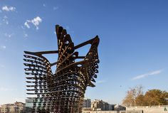"""GAD Architecture has installed their latest sculptural design, Serra Gate, in Istanbul's Taksim Square, just in time for Istanbul Design Week. Named after the minimalist sculptor whose work inspired the design, the Serra gate's steel form was created using cutting edge technology. The sinuous curvature was conceived through the software """"Mathematica,"""" and was modeled using the latest 3D printing technologies. 3d Printing Technology, Istanbul, Gate, Software, Minimalist, Sculpture, Steel, Inspired, Architecture"""