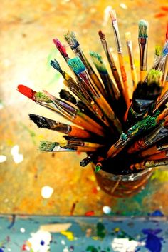 paint brushes make the home colorful! :)