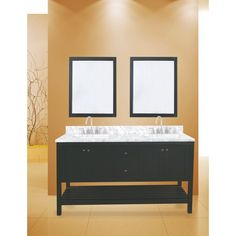 With this furniture vanity, helping your bathroom remodel so easy and quick. The glamor of the contemporary design with silky white finish gives your bathroom a fresh look and elegance. The combination of solid wood and granite/marble makes it a vanity for a lifetime. It's just so nice to have a vanity with soft closing doors and drawers in the bathroom.
