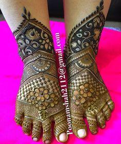 Latest Mehendi Designs for Hands & Legs - Happy Shappy Henna Hand Designs, Dulhan Mehndi Designs, Mehandi Designs, New Bridal Mehndi Designs, Mehndi Designs Feet, Mehndi Designs For Girls, Mehndi Designs 2018, Modern Mehndi Designs, Mehndi Design Pictures