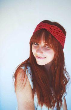 Hand Knit Coral Turban Headband by StringofPurlsKnit on Etsy