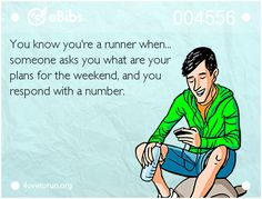 You know you're a runner when someone asks you what your plans are for the weekend and you respond with a number. Running Posters, Running Memes, Running Quotes, Running Workouts, Fun Workouts, Running Tips, First Marathon, Half Marathon Training, Marathon Motivation