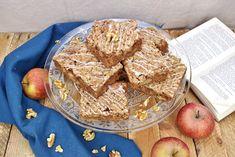 Einfaches Rezept für herbstliche Brownies mit Äpfeln und Nuss - Rezept für den Herbst