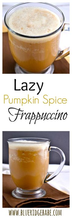 Lazy Pumpkin Spice Frappuccino (Dairy free)