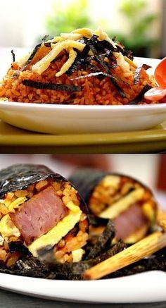 Kimchi Fried Rice, Kimchi Kimbap and Hawker Style Shrimp Balls