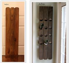 Perfect Diy Wall Mount Riddling Wine Rack