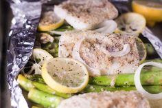 Roasted Lemon Cod and Asparagus in Foil 3