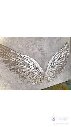 Diy Art Painting, Abstract Art Painting, Angel Wings Painting, Glitter Wall Art, Amazing Art Painting, Painting Art Projects, Canvas Art Painting, Wings Art, Texture Art