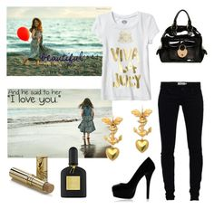 """""""Beach"""" by looliipoop ❤ liked on Polyvore featuring Nordstrom, Chloé, Religion Clothing, Marquis & Camus, Baby Phat, Betsey Johnson and Tom Ford"""