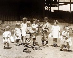 Old Picture of the Day: The 1910's This photograph was taken in 1910, and shows a group of children at a baseball park. Cute kids, and it looks like it could have been taken yesterday. To me it is sort of strange to look at pictures like this and realize all the people would be gone now. Life is short . . . do something worthwhile.