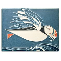 Motawi Tileworks Collection Mid-century modern meets Motawi mastery in these tiles based on the work of celebrated wildlife artist Charley Harper a Art Nouveau, Charley Harper, Art And Craft Design, Blue Tiles, Mid Century Modern Art, Decorative Tile, Tile Art, Ceramic Art, Ceramic Animals