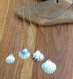 NaniByEttyVardi-unique gift ideas,special gift,birthday gift for her, porcelain jewelry beach necklace mermaid necklace porcelain Seashell Jewelry, Seashell Necklace, Seashell Crafts, Shell Necklaces, Cute Jewelry, Wedding Jewelry, Women Jewelry, Nautical Necklace, Necklace Chain