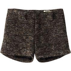 【ELLE SHOP】デネブ|モヘアツイード ショートパンツ|ファッション通販 エル・ショップ ($270) ❤ liked on Polyvore featuring shorts, bottoms, pants, short and short shorts
