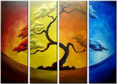 Modern Abstract Huge Wall Art Oil Painting On Canvas Art Deco (no Framed) Frames For Canvas Paintings, Canvas Art, Tree Paintings, Tree Canvas, Cheap Paintings, Oil Painting Abstract, Abstract Wall Art, Painting Art, China Painting