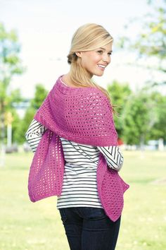 Tunisian Shawls:Featuring gorgeous yarns from fine weight to bulky, the eight diverse wraps in Tunisian Shawls will take you through the seasons in style and comfort. Their knit-look textures are created using Tunisian crochet patterns for skill levels from easy to intermediate. Designer Sharon H. Silverman says the variety of shapes and styles make shawls the perfect opportunity for crocheters to master Tunisian techniques while creating beautiful fashions.Available from MaggiesCrochet.com