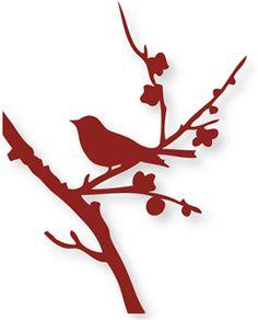 View Design: bird on fall branch