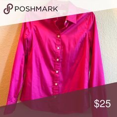 Fuschia pink button up Banana Republic top Beautiful Fuschia button up size 4 from banana republic Banana Republic Tops Button Down Shirts