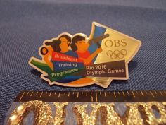 2016 Rio Olympic Media Pin OBS (Olympic Broadcasting System) #2