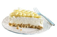 Crunchy white choclate banana pie