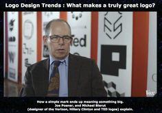 Defining Logo Design Trends, Michael Bierut talks about Logos and logo design ... this follows our 60 Seconds edition #327 about Logo Design Trends for 2016 ... this is an essential video for all graphic designers!  #graphicdesign #logodesign #logodesigntrends #60seconds #showker