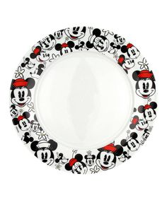 Look at this Minnie Heads Dinner Plate - Set of Four on #zulily today!
