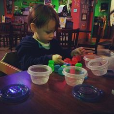 The Magic of Busy Bags. Great tip on how to survive eating out in a restaurant with a toddler!