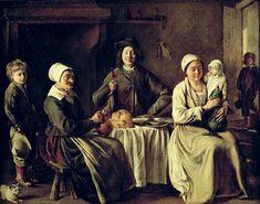 Familia feliz (Louise Le Nain, 1642)