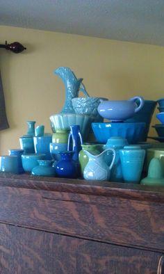 vintage blue pottery. Wear Blue Run to Remember  www.wearblueruntoremember.org #wearblue #wbr2r