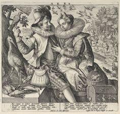 Aer, Crispijn de Passe (I), c. 1590 - 1600   Museum Boijmans Van Beuningen