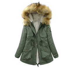 Camp Livingston Parka ($120) ❤ liked on Polyvore featuring outerwear, coats, chaquetas y abrigos, green, parka coat, green coat, green parka coat and green parka