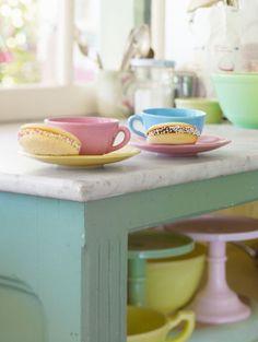 vintage style pastels