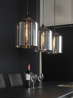 Leuke woonkamer/eetkamer hanglamp van handgeblazen glas | Lampen ...