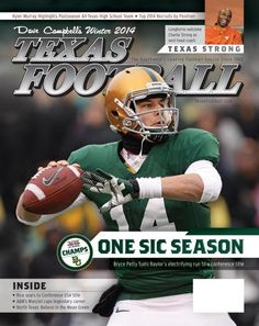 """The cover of """"Dave Campbell's Texas Football,"""" Winter 2013-14 edition. #SicEm"""