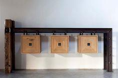 Dirk Cousaert - Meubelen Design & Creatie - Meubel Kubus oude eik ijzer - Discover more at www.dirkcousaert.be
