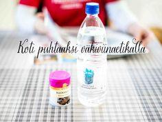Etikka on monipuolinen ja ympäristöystävällinen puhdistusaine kodin siivoukseen. Etikkaa voi käyttää kahvinkeittimen, kattiloiden ja lasiovien puhdistukseen sekä viemärin ja pyykin raikastukseen. Soap, Bottle, Flask, Bar Soap, Soaps, Jars